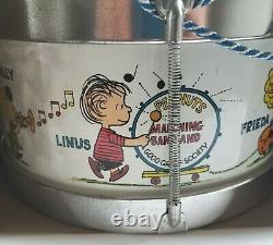 Nouveau En Boîte Peanuts Marching Band Drum Charlie Brown Snoopy Vintage 1969 Chein
