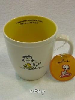 Nouveau Vtg Hallmark Peanuts Ensemble De 3 Tasses Charlie Brown, Snoopy, Lucy & Linus Nib