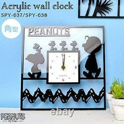 Okaimono Snoopy Horloge Murale Snoopy Horloge Acrylique / Square Charlie Brown Ltd Jp