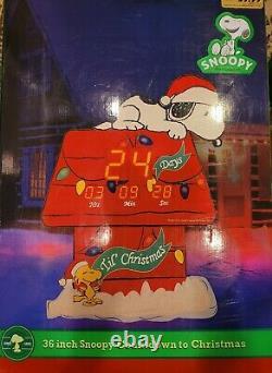 Peanuts 36 Snoopy Compte À Rebours Pour Noël Dans La Boîte +24 Charlie Brown Musical Tree