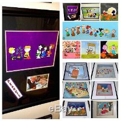 Peanuts Cel Charlie Brown Christmas Citrouille Snoopy Signé Bill Melendez 13 Set