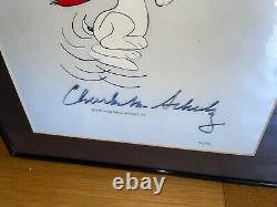Peanuts Cel Snoopy Flying Ace Signé Charles M Schulz Rare Animation Art Cell