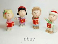 Peanuts Charlie Brown Lenox Christmas Caroling Figurine Set