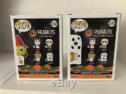 Peanuts Halloween Funko Pop Set Fantôme Charlie Brown Sorcière Lucy Snoopy Voutée