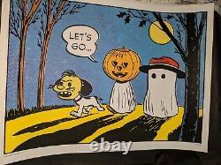 Peanuts Lets Go Charles Schulz Charlie Brown Snoopy Mondo Print Halloween