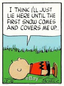 Peanuts Lie ICI Charles Schulz Charlie Brown / Snoopy Imprimer / Affiche Mondo