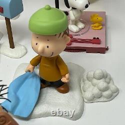 Peanuts Memory Lane Christmas Figurine Lot Charlie Brown Lucy Snoopy Linus Frieda