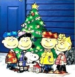 Peanuts Snoopy A Charlie Brown Christmas 36 Outdoor Lighted Sculpture Art De Jardin