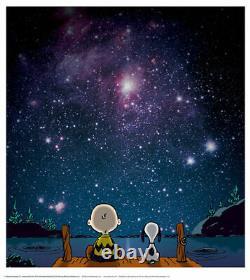 Peanuts Snoopy Charlie Brown Limited Edition Stars Giclee Print Printers Preuve