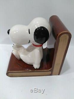Peanuts Vintage Charlie Brown Snoopy Bookend Japon Rare