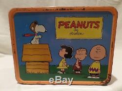 Peanuts Vintage Métal Boîte À Lunch Par Schulz Mettant En Vedette-snoopy Et Charlie Brown 19