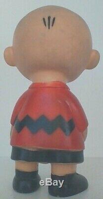 Peanuts Vintage Snoopy Charlie Brown 1958 Hungerford Vinyle Poupée De Nice