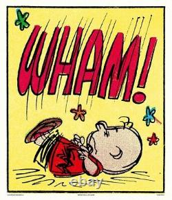 Peanuts Wham Charles Schulz Charlie Brown/snoopy Print/poster Mondo Sold Out