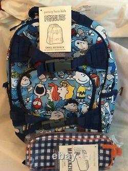 Poterie Grange Enfant Peanuts Snoopy Backpack + Penicl Zip Cas Bag Charlie Brown Chien