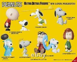 Preorder Medicom Toy Udf Peanuts Series 9 Figure 7 Pcs Set Snoopy Charlie Brown