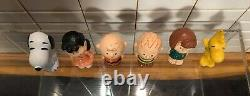 Rare Charlie Brown Snoopy And The Peanuts, 6 Pvc Fig. Schleich, W. Allemagne En 1972