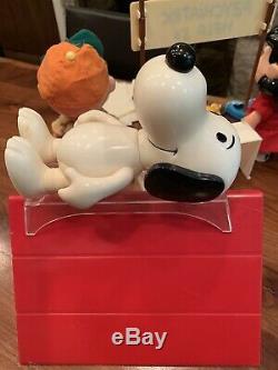 Rare Peanuts Vintage Articulé Action Poupées Snoopy Charlie Brown Lucy Woodstock