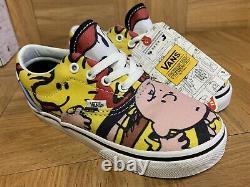 Rare Vans Era Charlie Brown Et Le Gang Snoopy Enfants Bébé Chaussures Sz 10 Nouveau