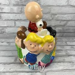 Rare Vintage Ufs Peanuts Gang Charlie Brown Snoopy Cookie Jar Céramique