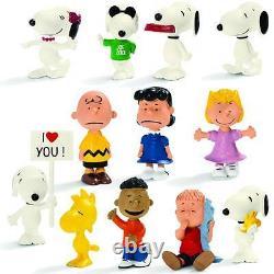 Schleich Peanuts Figure Pvc Display 36 Pièces Snoopy Charlie Brown Nouveau Scellé