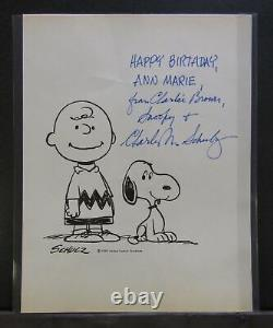 Snoopy And Charlie Brown Signed Print Par Charles Schulz