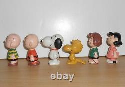 Snoopy Charlie Brown Ensemble Complet Figure Figurine Schleich Vintage