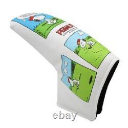 Snoopy Charlie Brown Golf Putter Lame Épingle Type Tête Couverture Peanuts Comics