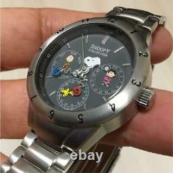 Snoopy Collection Watch Rare Charlie Brown Lucy Woodstock Utilisé Excellent