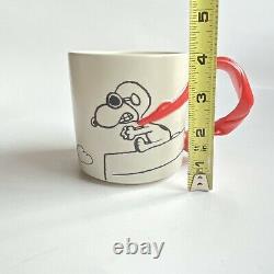 Snoopy Flying Ace Mug Red Scarf Arachides Charlie Brown Baron Woodstock Hallmark