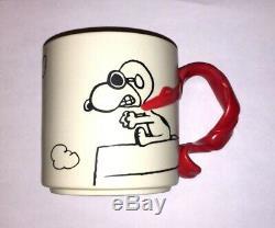 Snoopy Flying Ace Tasse Red Scarf Peanuts Charlie Brown Baron Vintage Woodstock
