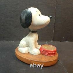 Snoopy Vintage Charlie Brown Figure Cheval Noir 60e Anniversaire Limitée 597/650