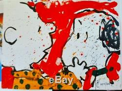 Tom Everhart Doggie Cher 1999 Arachides Charlie Brown Snoopy Main Signée