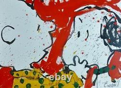 Tom Everhart Doggie Dearest 1999 Peanuts Charlie Brown Snoopy Main Signée