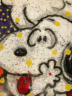 Tom Everhart Mon Principal Squeeze Unsigned Lithograph Snoopy Peanuts Charlie Brown