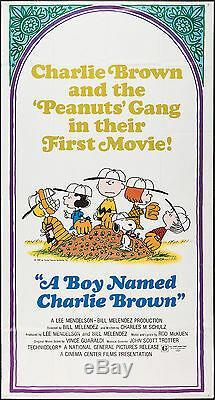 Un Garçon Prénommé Brown Charlie Originale Rare 1970 Grande Affiche De Film 3 Feuilles Snoopy