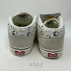 Vans Arachides Demi-cabine Snoopy Crème Familiale Sneakers Hommes Taille 10.5 Marshmallow