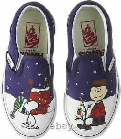 Vans Off The Wall Hommes X Peanuts Charlie Brown Snoopy Chaussures De Noël Slip-on