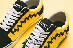 Vans Old Skool Peanuts Charlie Brown Royaume-uni 11 Us 12 Eur 46 Vault Sk8-hi Snoopy Era