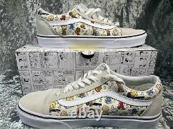 Vans Peanuts Old Skool Multi/true White Royaume-uni 6.5 Snoopy Charlie Brown