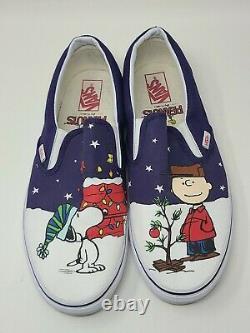Vans Peanuts Par Schulz Snoopy Charlie Brown Slip De Noël Sur Les Hommes 13