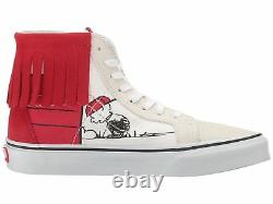 Vans Peanuts Snoopy Dog House Bone Charlie Brown Sk8 Salut Moc Red Suede Shoes