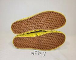 Vans Sk8 Rares Peanuts-salut Chaussures De Skate Charlie Brown Jaune Maïs 10,5 Limitée