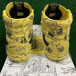 Vans Sk8-salut Réédition Chaussures De Skate Jaune Maïs Peanuts Charlie Brown Hommes Sz 7.5