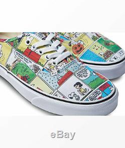 Vans X Arachides Comics Chaussures Hommes (nouveau) Authentique Snoopy Charlie Brown Le Bateau Libre