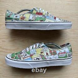 Vans X Peanuts Comics Hommes Chaussures Taille 11.5 Snoopy Authentique Charlie Brown