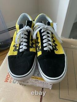 Vans X Peanuts Old Skool Charlie Brown Shoes Taille Homme 10 Avec Boîte