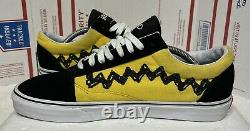 Vans X Peanuts Old Skool Charlie Brown Sneakers Taille 11 500714 Bonne Douleur Snoopy