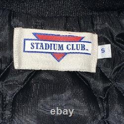 Veste Vintage Snoopy Satin Joe Cool Charlie Brown Peanuts Rare Stadium Club S/m