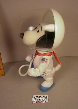 Vintage 1969 Snoopy Astronaut 10 Figure D'action Plastique Peanuts Gang Apollo Adp