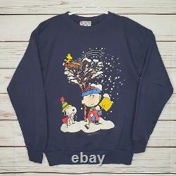 Vintage 1970 Snoopy Charlie Brown Woodstock Peanuts Sweatshirt USA Fabriqué